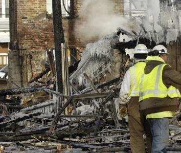 zniszczony budynek
